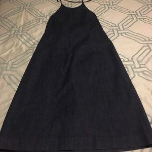 Ann Taylor 8 halter jean dress